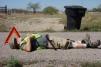 Rev. Bob Cook takes a break near Aguila, AZ