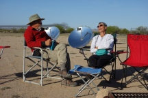 Pablo and Kate in front of the solar cookers