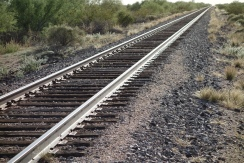 Rails we walked in the desert