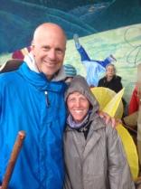 Ed Fallon and Shira Wohlberg at Taos rally