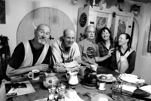 Locals in Truchas N.m. Invite us to breakfast as we walk past their home