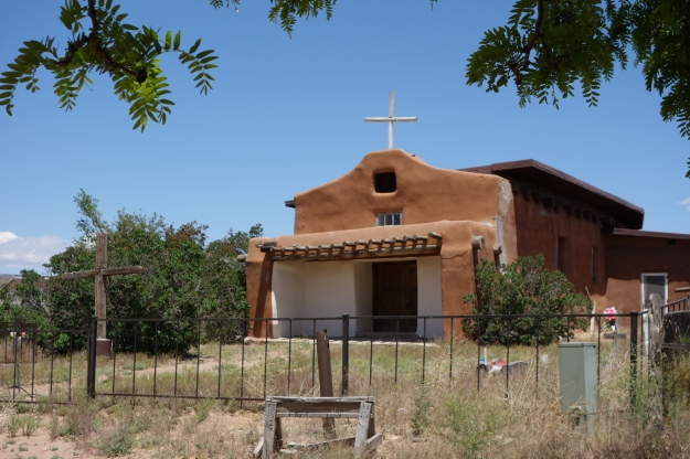 18th century church in Cochiti Pueblo just below La Bajada pass