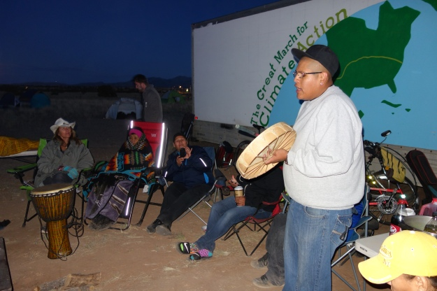 Matthew Sanchez , a drummer from the Santa Anna tribe entertained us at full moon campfire. his family also fed us ... Generosity without bounds