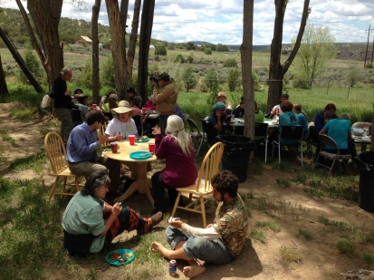 Picnic at arroyo Hondo
