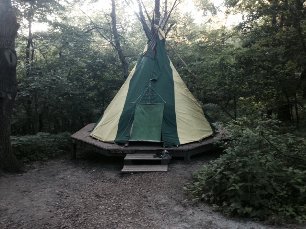 Teepee at Platte River State Park
