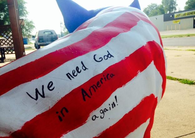 Pig patriot in Creston, IA
