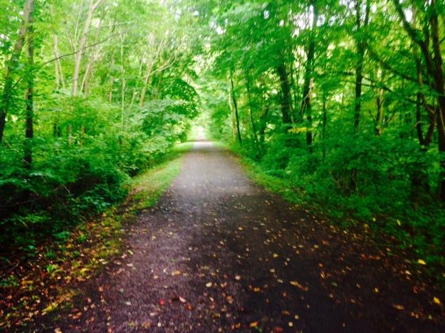 Walking a bike path to Massillon Ohio