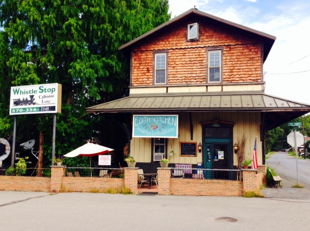 """Old train station converted to """"Edith's Kitchen"""" in Catawissa, pa."""